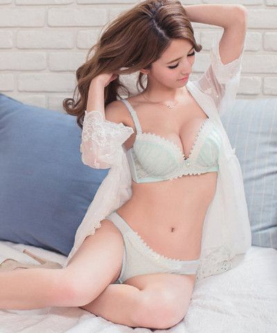 bf85b4c73 Tiara Chiffon Push Up Demi Bra (Blue) - Petite Cherry - 1