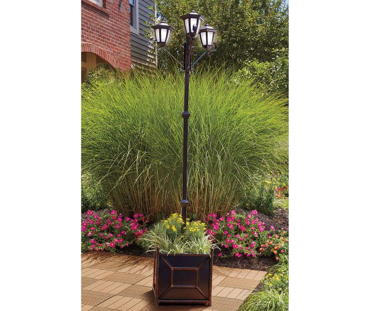 Wilson Fisher Solar Light Post With Plastic Planter Base Solar Garden Lamps Garden Lamp Post Outdoor Lantern Lighting