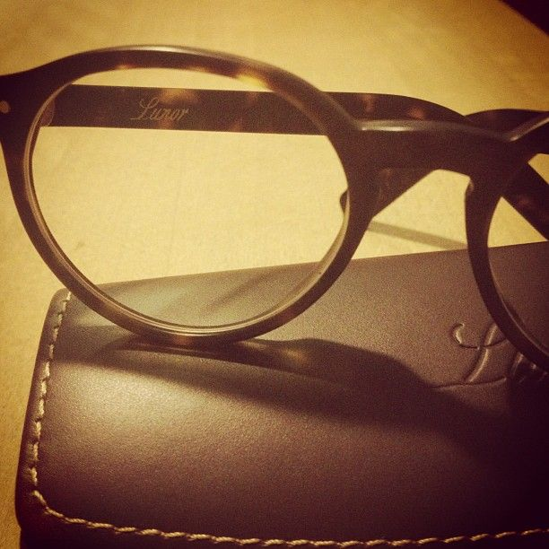 perfect couple: Lunor acetate frame + Lunor leather case