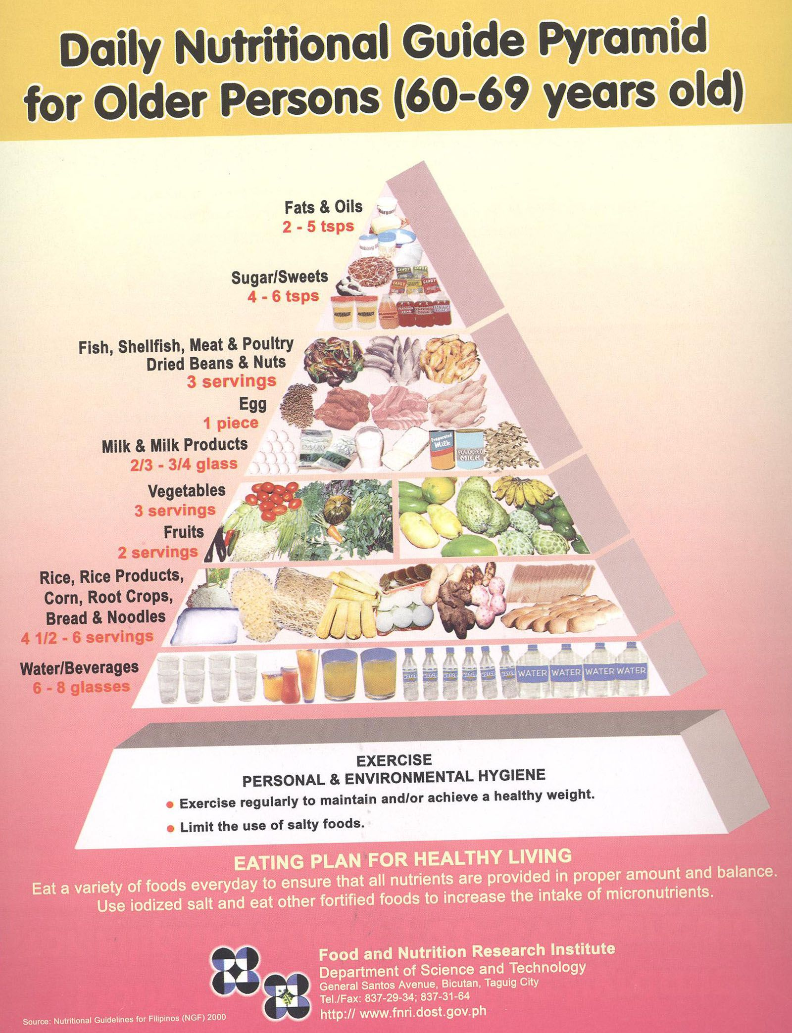 60-69 years old Nutrition Poster, Nutrition Guide, Food Pyramid, Life Hacks