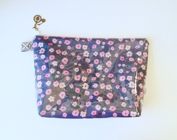 Floral Ditsy Flat Bottom Pouch Medium by handmadephilosophy