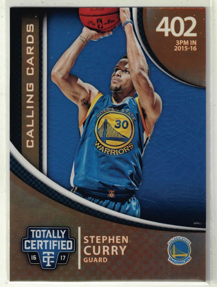 201617 Totally Certified Basketball Stephen Curry Gold