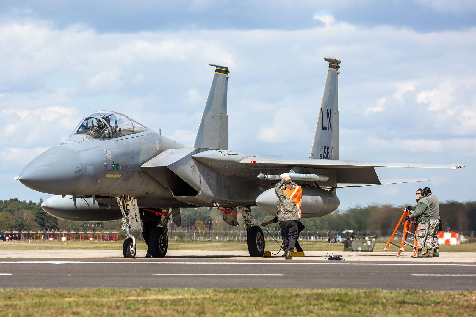 F-15C Eagle, 86-0156, 493rd 'Grim Reapers', 48th FW