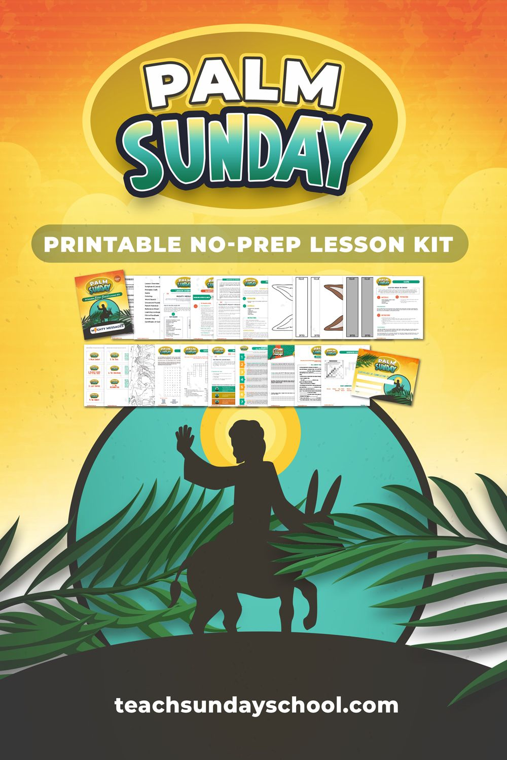 Palm Sunday Sunday School Lesson in 2020 (With images