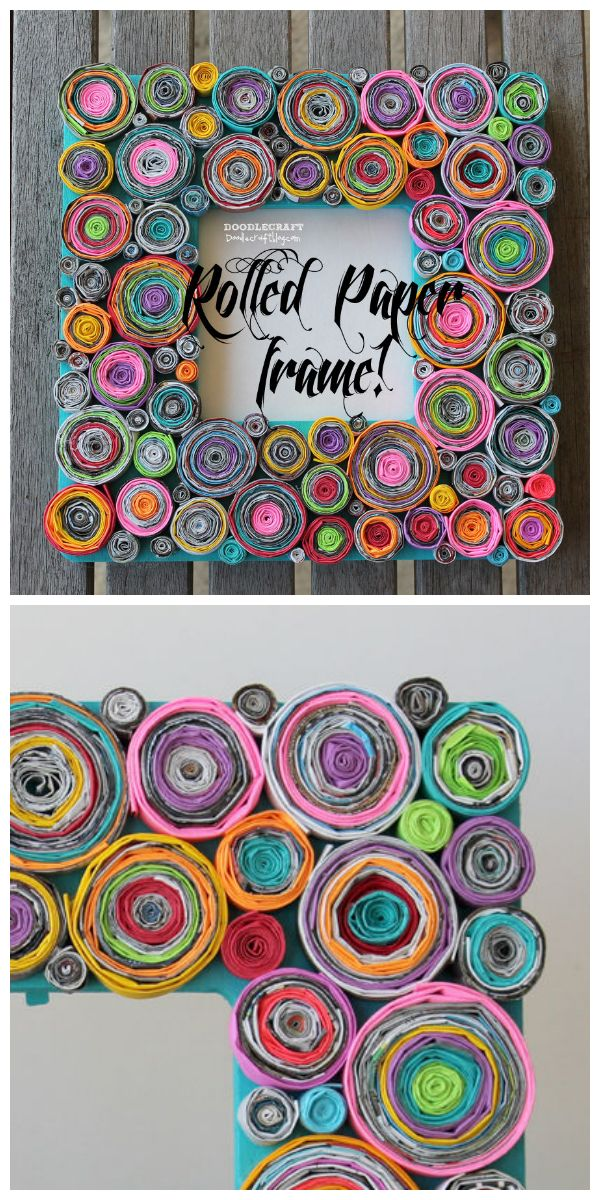 Upcycled Rolled Paper Frame Newspaper Crafts Rolled Paper Art