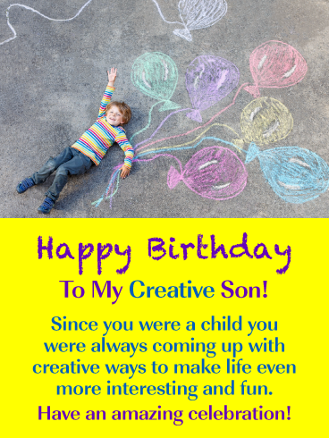 Creative Fun Happy Birthday Card For Son From Mother Birthday Greeting Cards By Davia Birthday Cards For Son Happy Birthday Cards Father Birthday