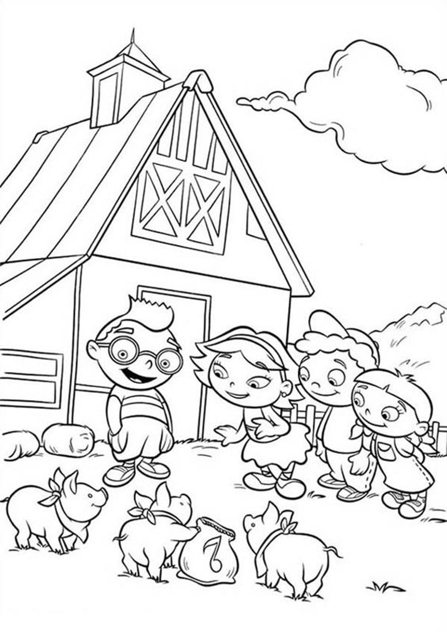 Free Easy To Print Farm Coloring Pages Farm Coloring Pages Dinosaur Coloring Pages Coloring Pages [ jpg ]