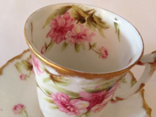 Beautiful set of Limoges France tea cups with saucers. Clean and ...
