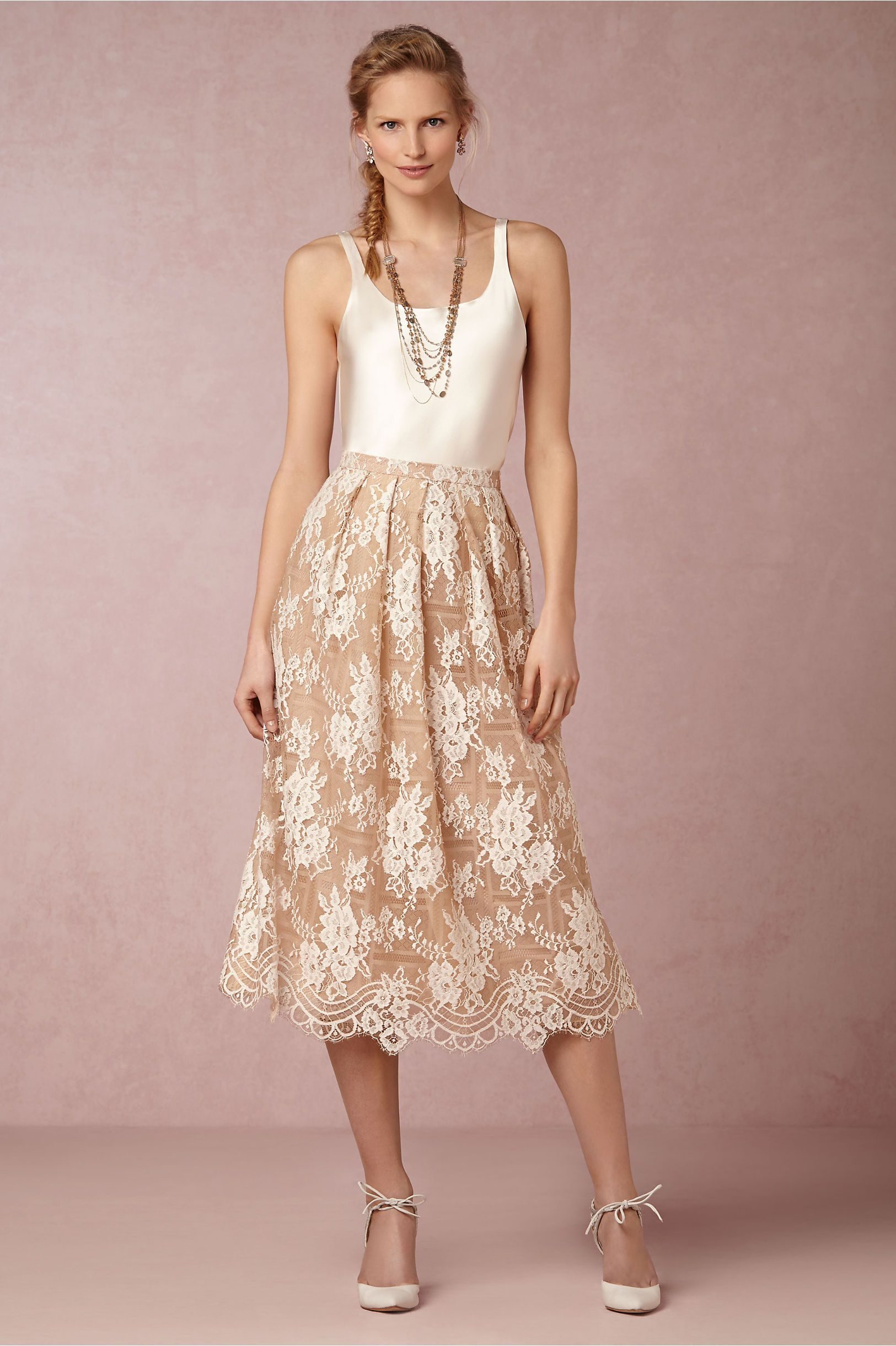 85212fc25116 Kennedy Skirt and Perpetuity Camisole in Bride Reception Dresses at BHLDN