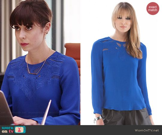 Zelda s blue cutout blouse on A to Z. Outfit Details  http    45cb60069