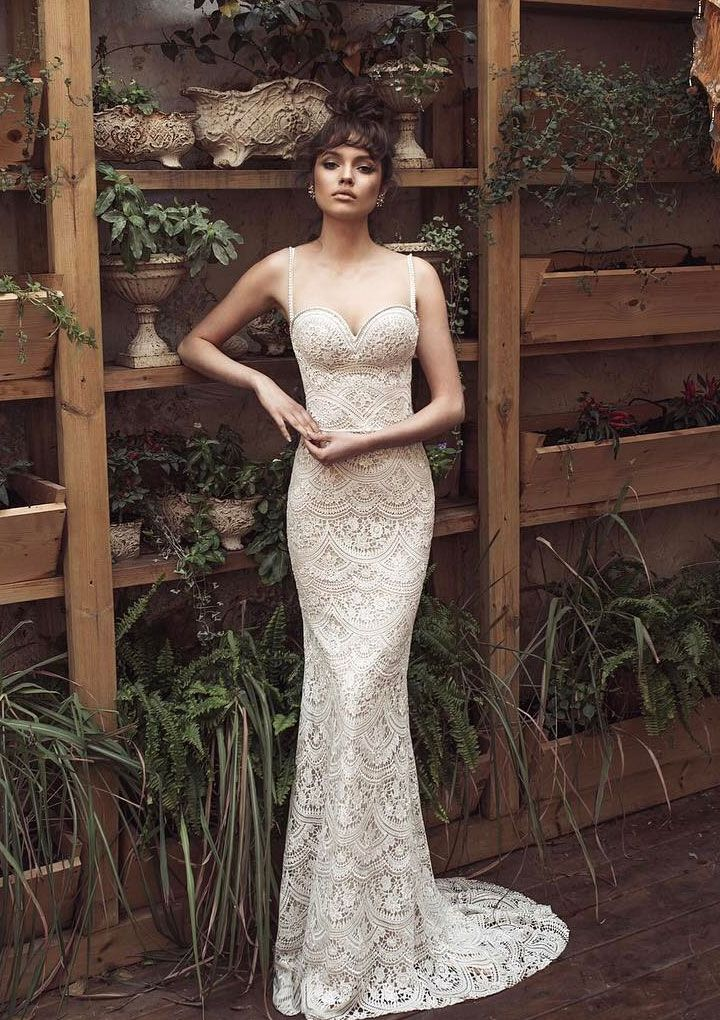 Spaghetti strap Julie Vino 2017 Wedding Dresses | itakeyou.co.uk #weddingdress #weddinggown #bridalgown #bridaldress