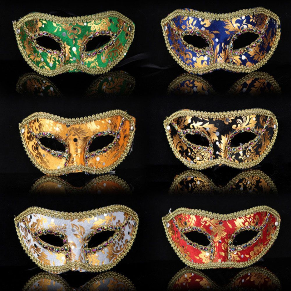 Mens Party Prom Womens Mask Venetian Style Velvet Masquerade