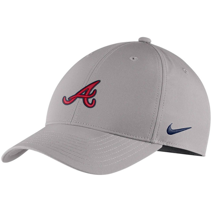 fcde3460a6c Men s Atlanta Braves Nike Gray Legacy 91 Adjustable Hat