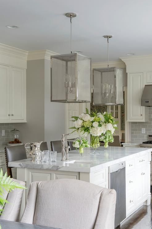 Best Ivory And Gray Kitchen Features Ivory Cabinets Paired With 400 x 300