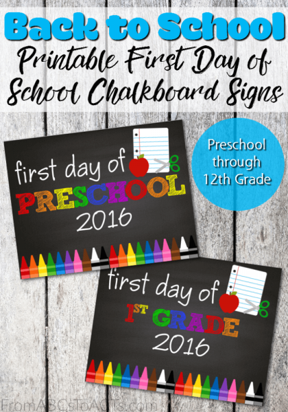 Are first day of school pictures a tradition in your house? If not, this school year is the perfect time to make them one! With these printable first day of…