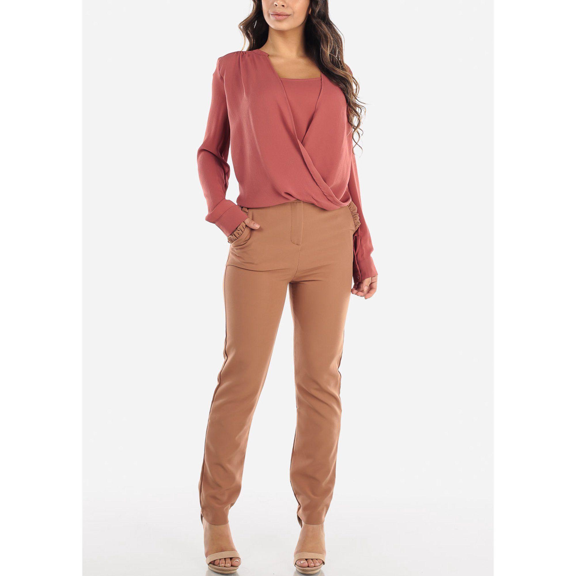 Moda Xpress Womens High Waisted Pants Straight Leg Career Wear Dressy Mocha Pants 10032h Walmart Com High Waisted Pants Career Wear Straight Leg [ 2000 x 2000 Pixel ]
