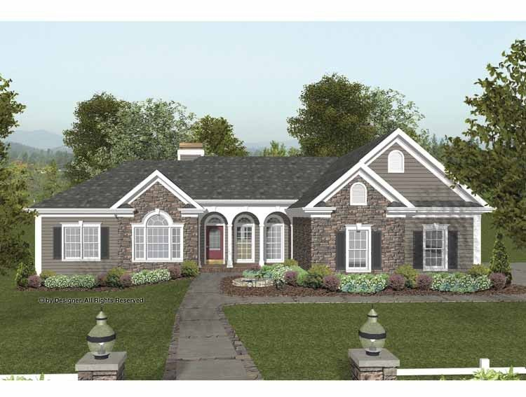 Eplans craftsman house plan triple arches and stone for Craftsman house plans 2000 square feet