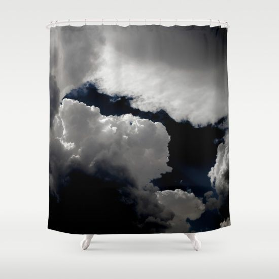Customize your bathroom decor with unique shower curtains designed by artists around the world. Made from 100% polyester our designer shower curtains are printed in the USA and feature a 12 button-hole top for simple hanging. The easy care material allows for machine wash and dry maintenance. Curtain rod, shower curtain liner and hooks not included. Dimensions are 71in. by 74in.  #sky, #clouds, #landscape, #photography, #nature, #showercurtain   , #curtain,