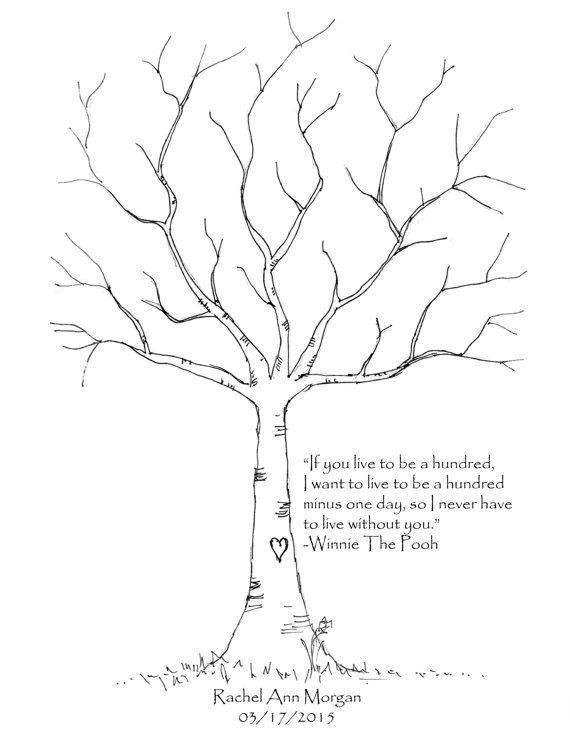 Winnie The Pooh Thumbprint Tree Baby by BabyAmbersGiftShop