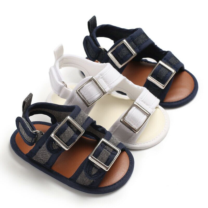New Fashion Baby Boy Crib Shoes Infant Summer Sandals First Step Shoes Size1 2 3