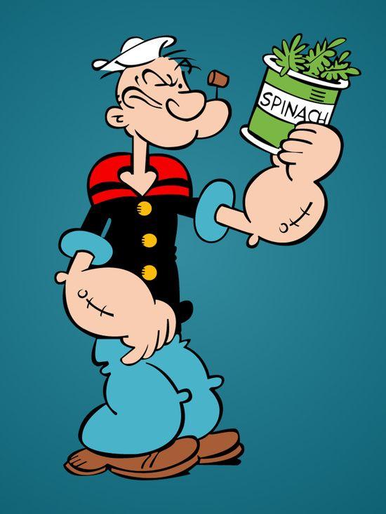 popeye sailorman spinach art in comics cartoons movies