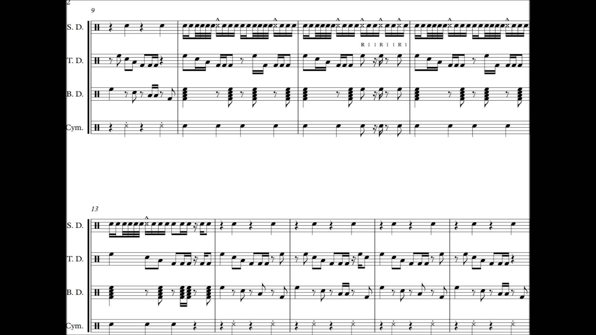 don t drop that thun thun finatticz drumline cadence sheet