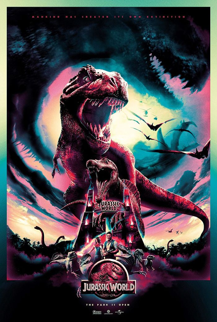 Jurassic World by Scott Woolston Jurassic world poster