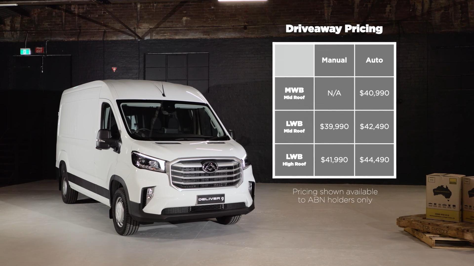 LDv Deliver 9 Price