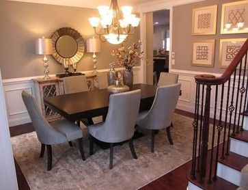 Model home dining room wall decor