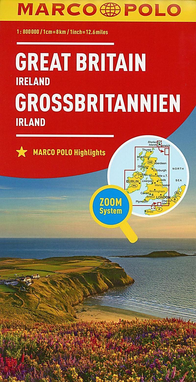 Marco Polo Karte Landerkarte Grossbritannien Irland 1 800 000