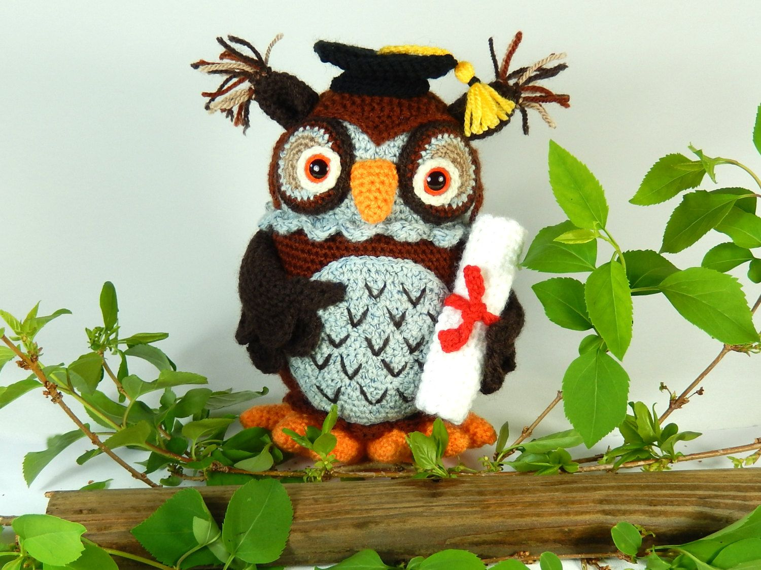 Wesley The Wise Owl  Amigurumi Crochet Pattern (available In English  Language Only) Wesley