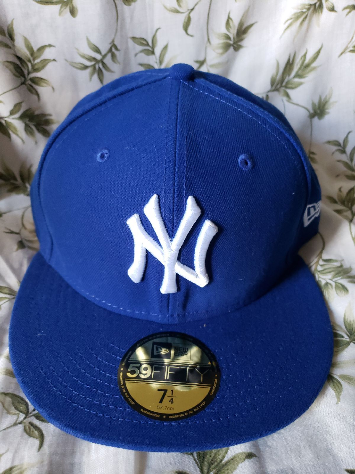 Royal Blue Ny Yankee S 7 Frac14 59fifty Cap M In 2021 Hats For Men Ny Cap Fitted Hats
