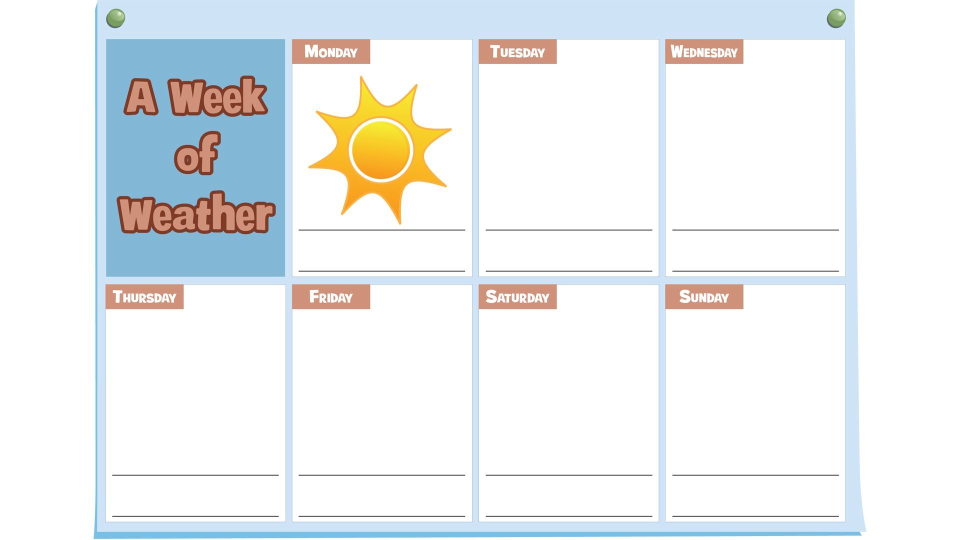 Weather Observation Calendar Week