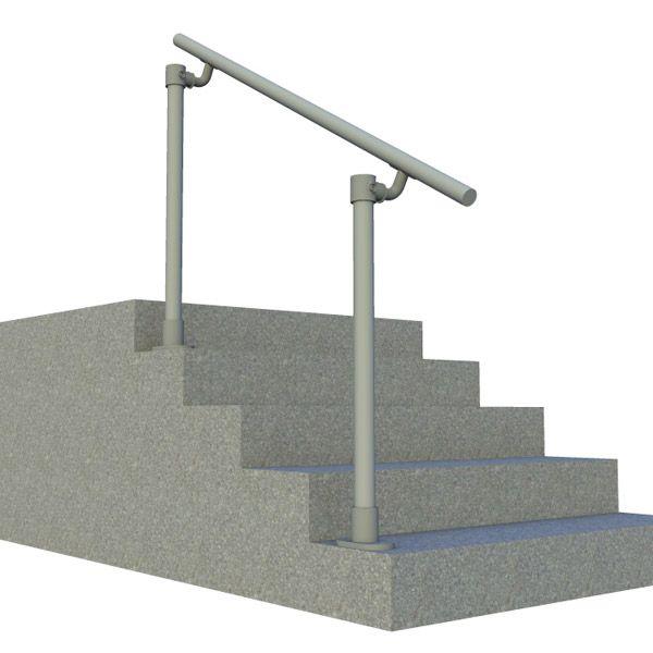 Outdoor Metal Stair Railing Kits Simple Handrail Kitsstair | Simple Handrail For Outside Steps | Wrought Iron Railing | Concrete Steps | Wood | Deck Railing | Stair Railings