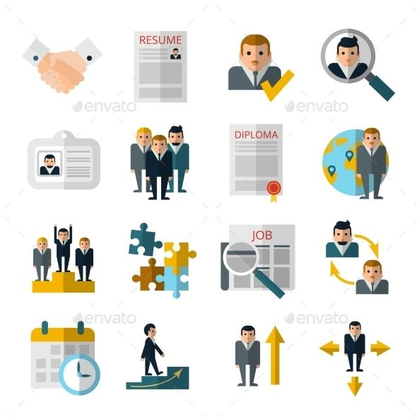 Human Resources  Icon Set Icons And Font Logo