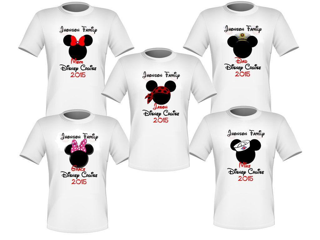 Funny family vacation t shirt ideas 1000 ideas about family vacation - Personalized Set Of 5 Disney Cruise Family Shirts T Shirts Mickey Minnie Very Nice Family Vacation