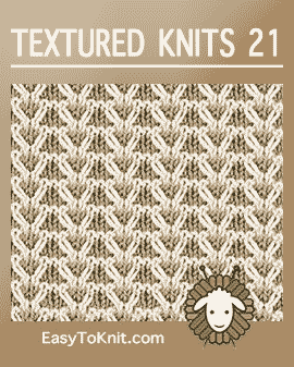 Textured Knitting 21 Gull Check With Images Neulonta Palmikot