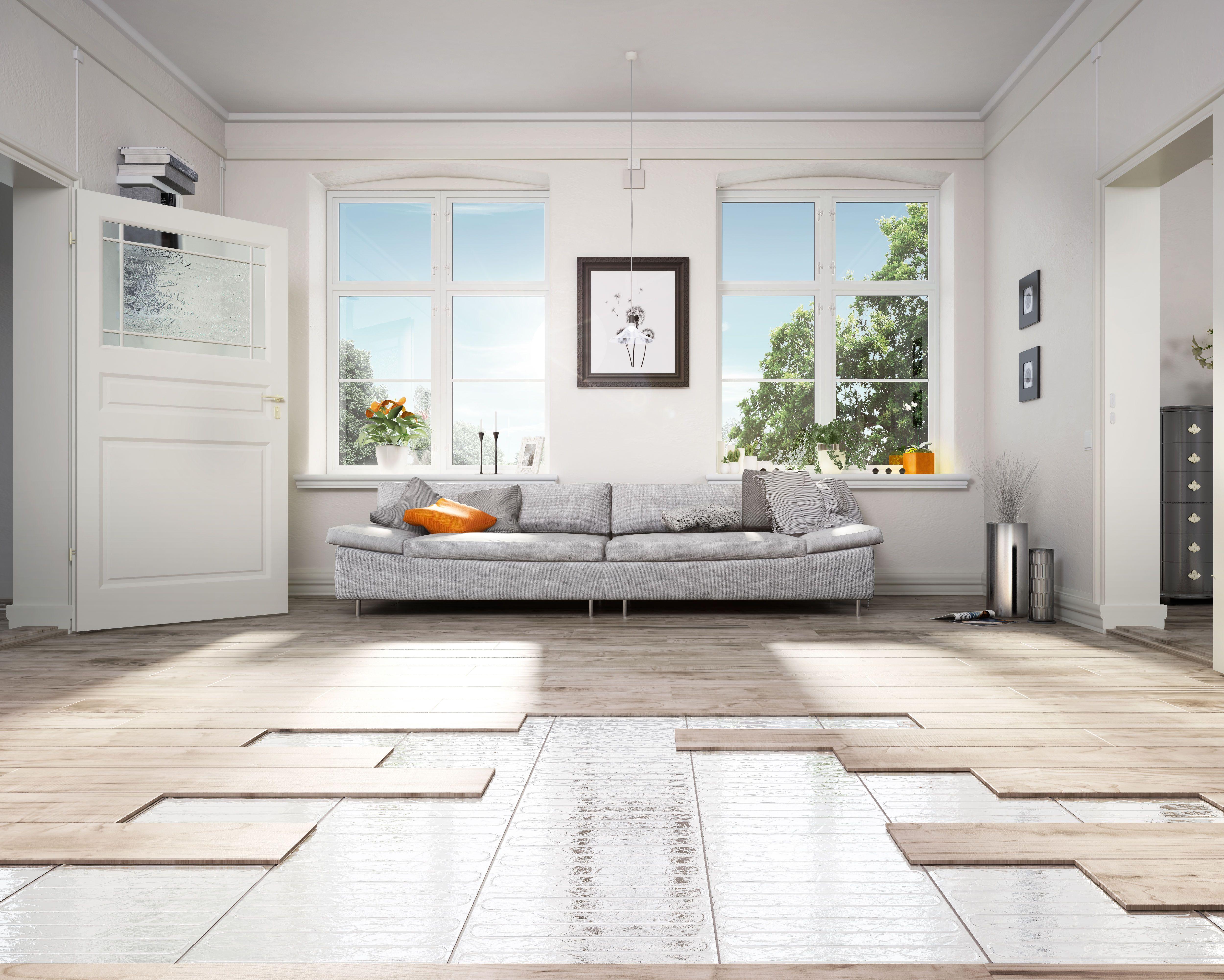 Fussbodenheizung Einfach Nachrusten Auch In Ein Bestehendes Haus Bzw Wohnung Kann Man Eine Fussbodenheizung Unter Verschiedenen Wohnung Haus Deko Bodenheizung