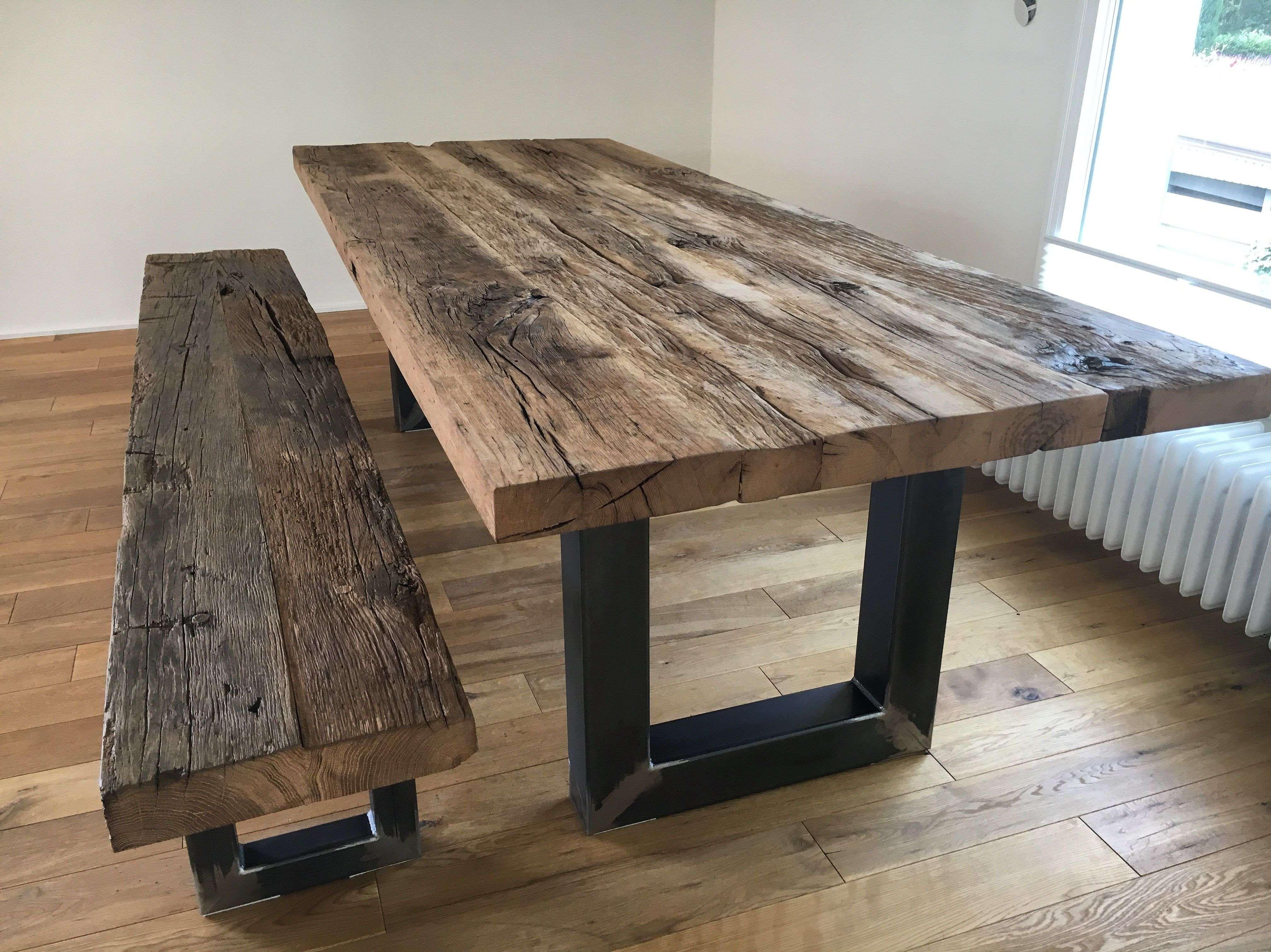 Tisch Baumkante 160 Massivholztisch Esstisch Holztisch Eichentisch Altholz Tisch Table Alter Holztisch Eichentisch Massivholztisch