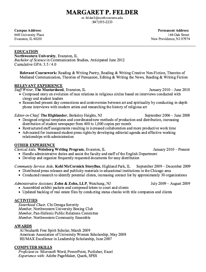 Example Of Staff Writer Resume  HttpExampleresumecvOrg
