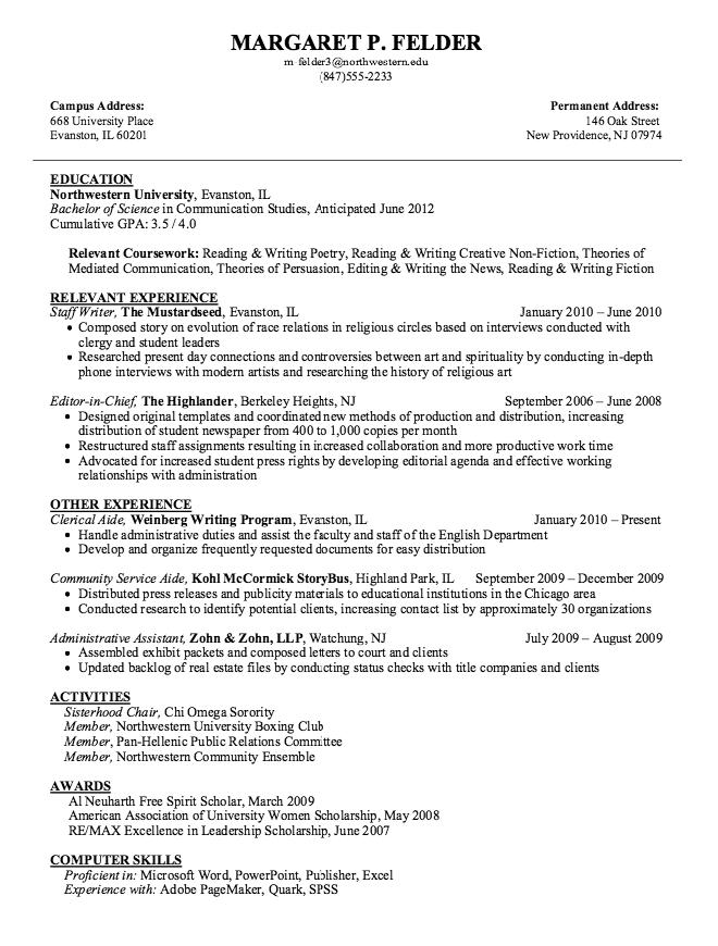 Example Of Staff Writer Resume Examples Resume Cv