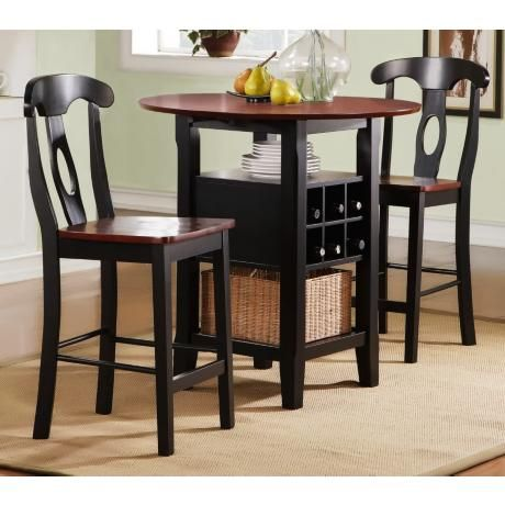 Homebelle 36 Wide Bistro Table With Chairs 3 Piece Set 2h334