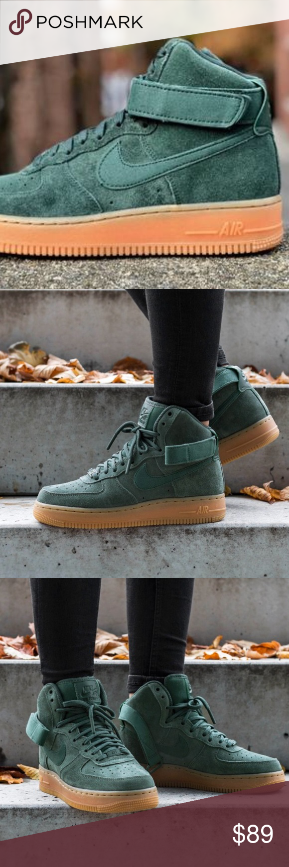 buy online 1ae90 6c4aa NWT Nike Air Force 1 HI SE Vintage Green WMNS Price is firm! Brand new with  no lid box. No trades. This special edition of the Nike Air Force 1 High  Women s ...