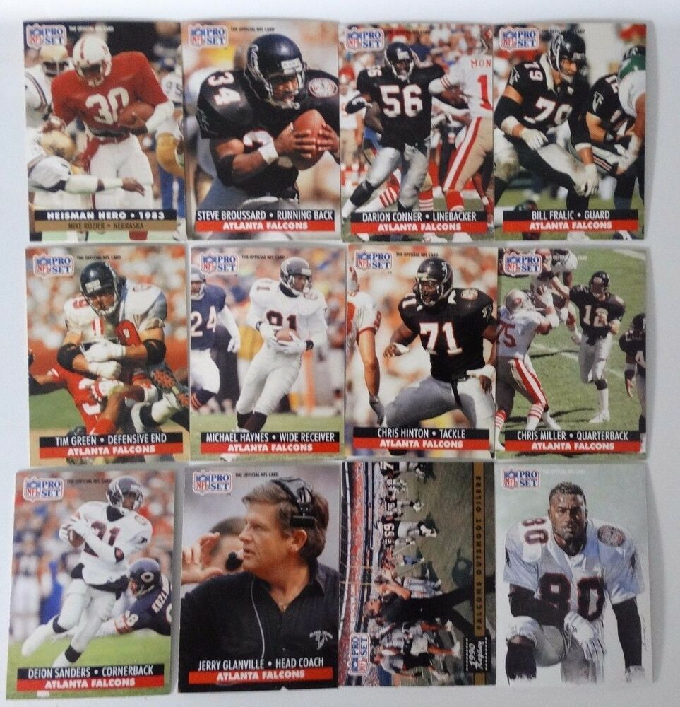 1991 pro set series 1 atlanta falcons team set 12 football