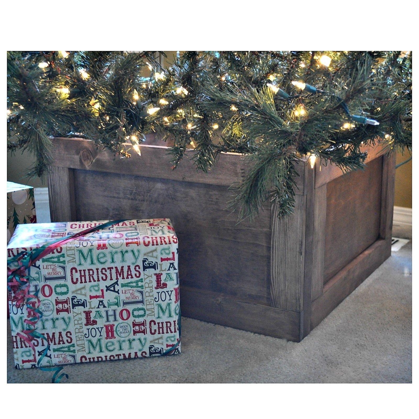 Foldable Wood Christmas Tree Collar Christmas tree box