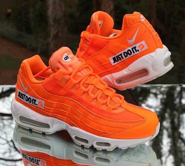 nike air max 95 mens orange and black