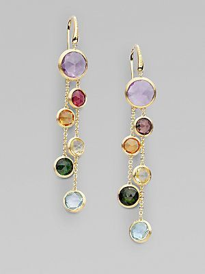 Marco Bicego Jaipur 18K Gold Mixed Stone Two-Strand Earrings jzwen
