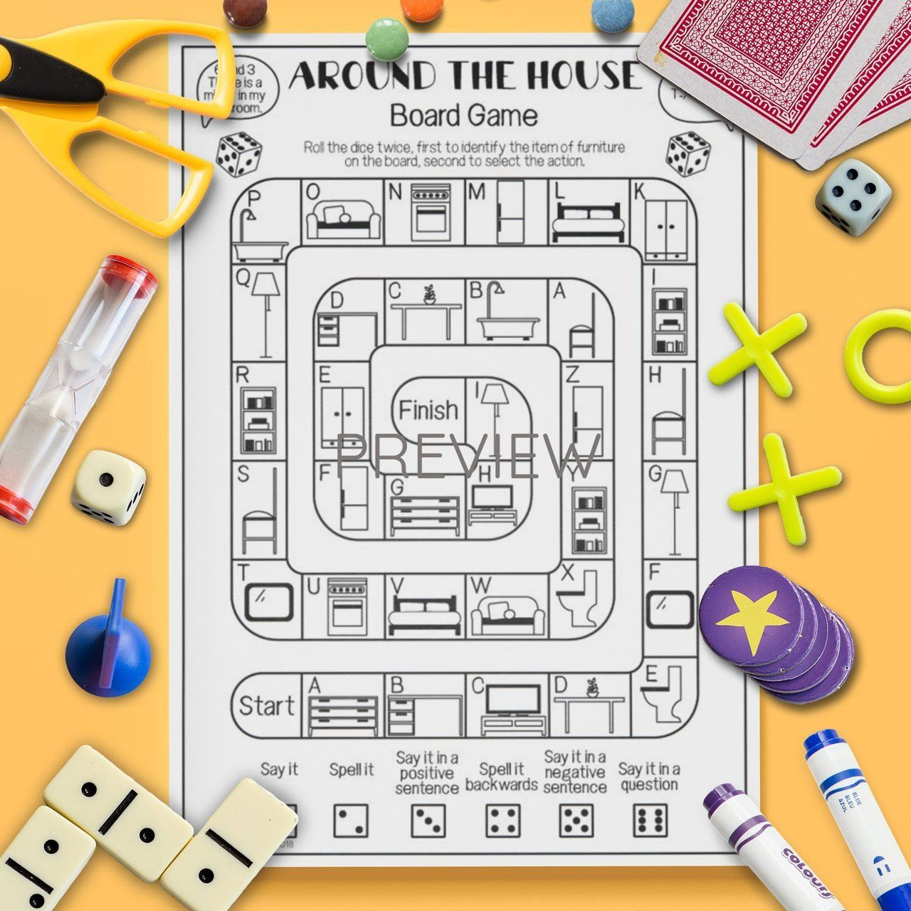 Around The House Board Game