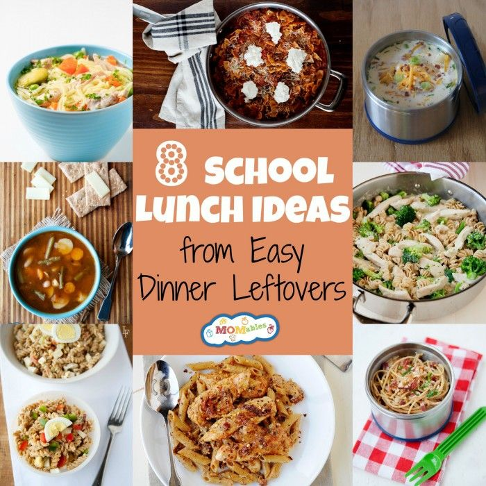 8 School Lunch Ideas From Easy Dinner Leftovers