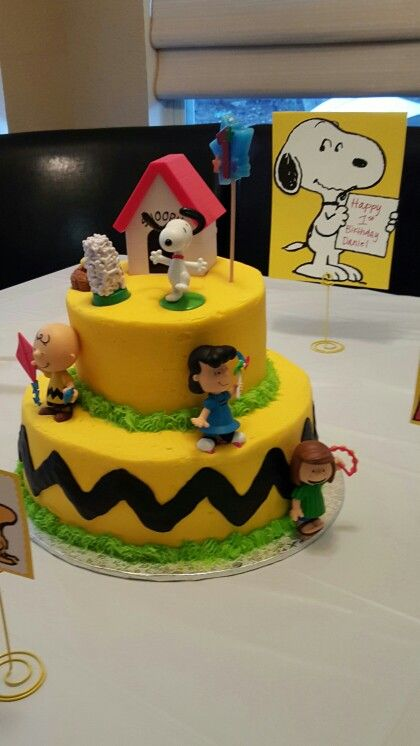 Charlie brown/Peanuts birthday cake … | Happy Birthday | Pinterest ...